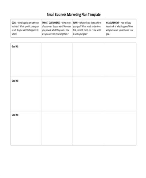 marketing caign plan template printable doc small business marketing plan2