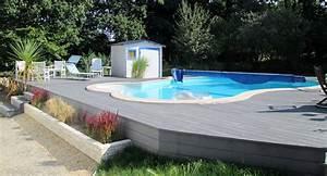 Tour De Piscine Bois : tour de piscine et terrasse sur lev e en lames bois ~ Premium-room.com Idées de Décoration