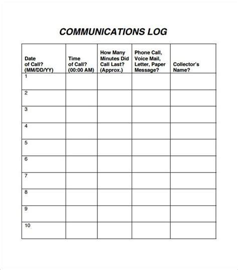 Create Free Resume On Phone by Staff Communication Log Template Wonderful Log Templates