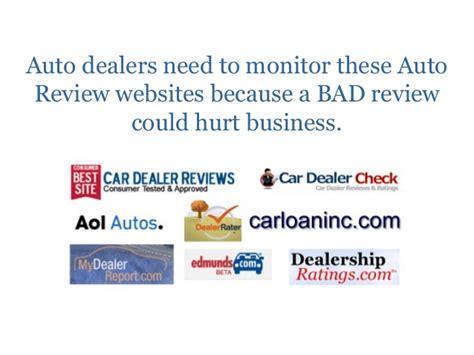 auto dealer review sites