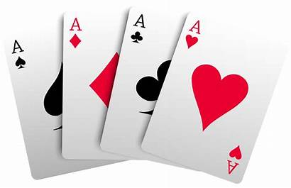 Aces Cards Transparent Clipart Playing Background Poker