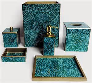 Teal Green Bathroom Decor by Posh Powder Powder Room Decor Accessories Palm