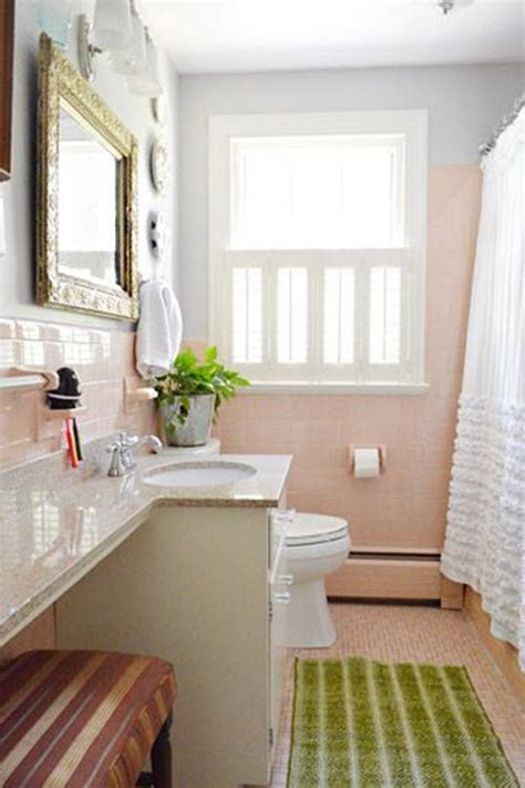 retro pink bathroom tile ideas  pictures