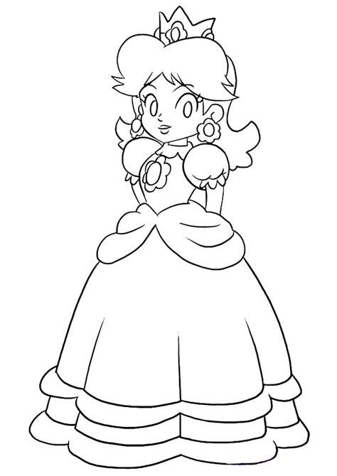dibujos de princesa peach  colorear pintar  imprimir