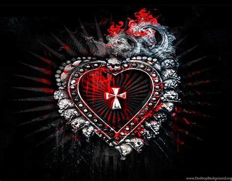 dark hearts desktop background