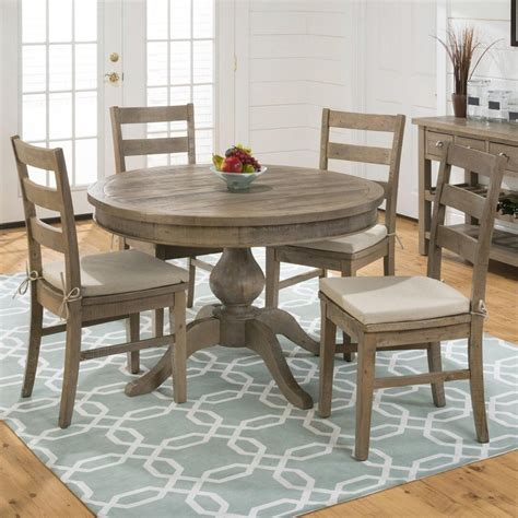 circle dining table set slater mill pine reclaimed pine round to oval 5 piece