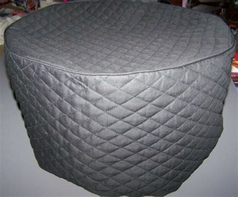 black quilted fabric  cover  crockpots crock pot