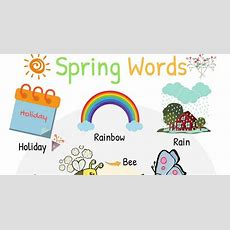 Spring Words Learn Spring Vocabulary With Pictures  7 E S L