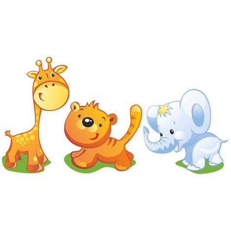 vinilo decorativo infantil kit de jirafa tigre y elefante