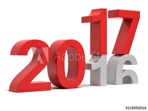 """2016 2017 New year change concept"" Stock photo and"