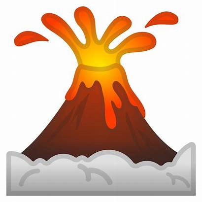 Icon Volcano Emoji Google Emojis Travel Places
