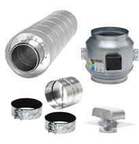 Kitchen Exhaust Silencer by Hvacquick Fantech Component Kitchen Ventilation Kits
