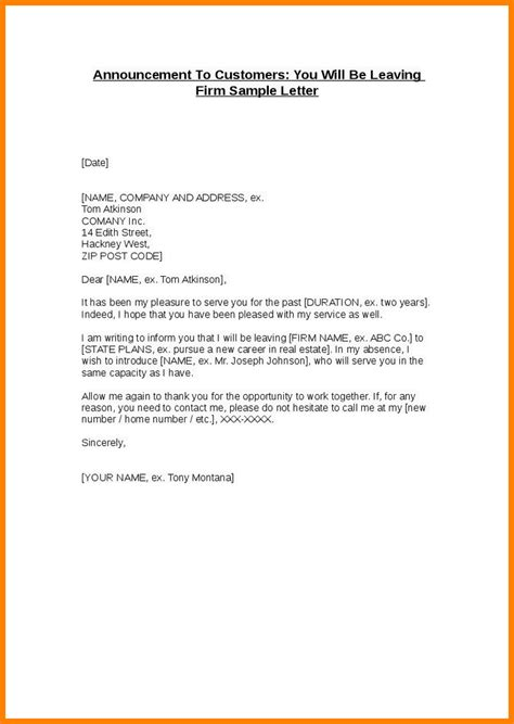 company merger letter to customers template 10 leaving letter from company to employee ledger paper
