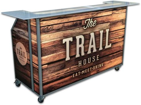 Portable Bar by Led Lighted Portable Bar On Wheels For Events Mobile