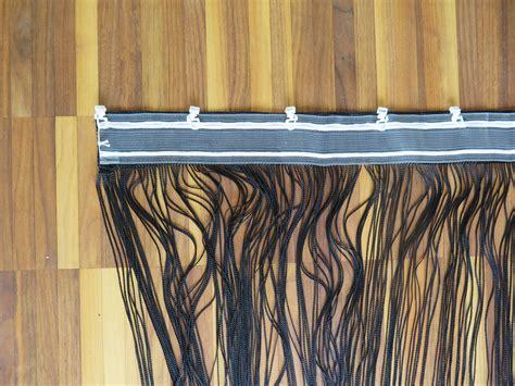 Vorhang Für Vorhangschiene by Fadenvorhang Garda Hochwertiger Schwarzer T 252 Rvorhang