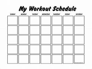 workout schedule template 10 free word excel pdf With exercise calendar template free