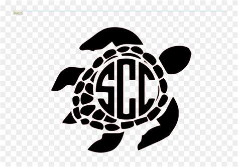 dreamcatcher clipart monogram black  white sea turtles png