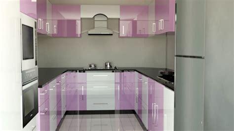 black  white kitchen decorated  purple  modular