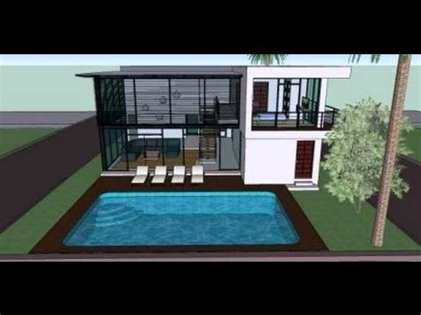 modern house with swimming pool house plans and house design
