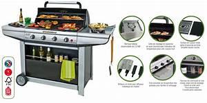 Barbecue Gaz Avec Plancha Et Grill : barbecue de jardin gaz camping gaz adelaide acheter ~ Melissatoandfro.com Idées de Décoration
