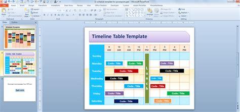 editable schedule template  powerpoint