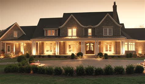 Traditional Country Home by Interesting Elevations
