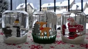 Decoration de noel avec pot de yaourt en verre for Maison a faire soi meme 2 le vase boule petit objet avec de grandes idees