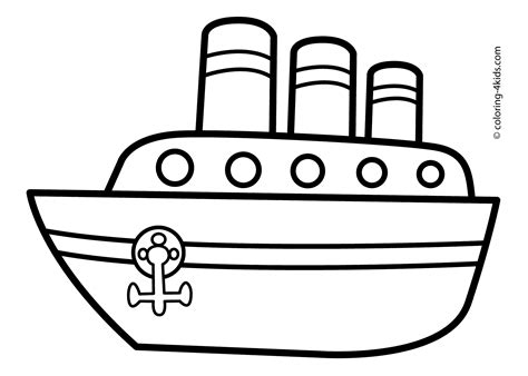 Boat Craft Drawing by Ship Transportation Coloring Pages Steamship For