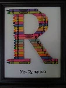 1000 images about Crayon Letter Art on Pinterest