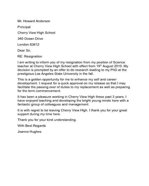 Resignation Letter to Principal Sample - Edit, Fill, Sign Online | Handypdf