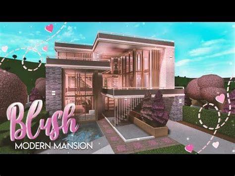 bloxburg blush modern mansion  speaks house build youtube modern family house