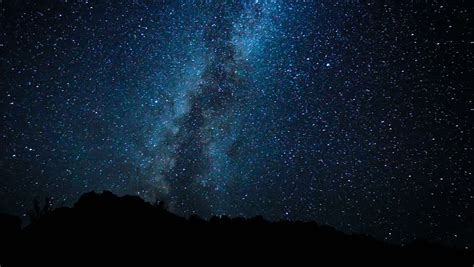 Time Lapse Night Sky Milky Way Galaxy Stock Footage