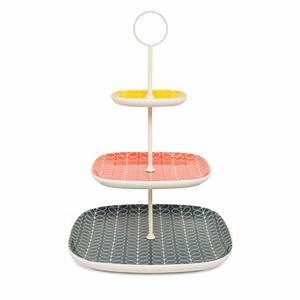 Orla Kiely Linear Stem 3 Tier Cake Stand at Amara