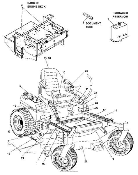 bunton bobcat ryan  predator pro hp kaw dfi  side discharge parts diagram  decals