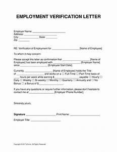 letter confirming employment free download champlain With voe template
