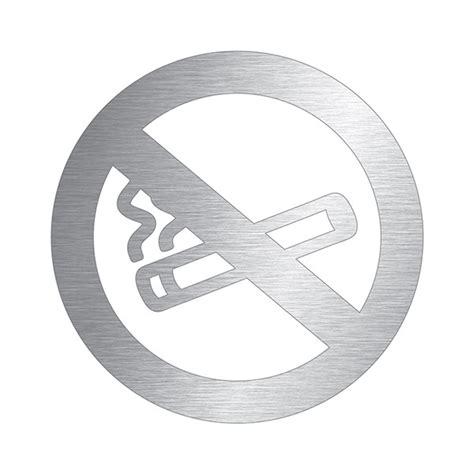 chevalet de bureau personnalisé pictogramme interdiction de fumer découpé en aluminium