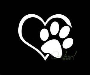 Dog Paw with Heart Tattoo