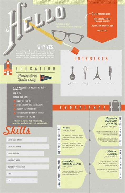 Graphic Design Resume Sles by Graphic Resume On Infographic Resume Graphic