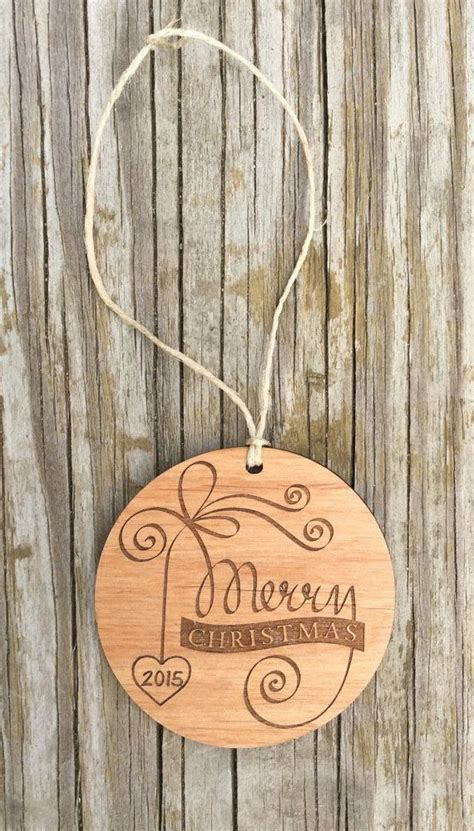 wooden ornaments engraved christmas ornament laser