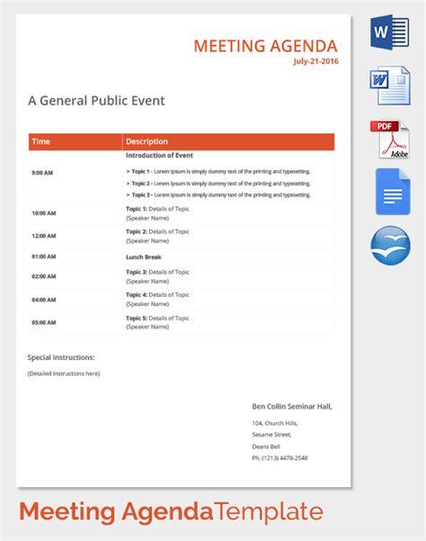 event agenda template 50 meeting agenda templates pdf doc free premium templates