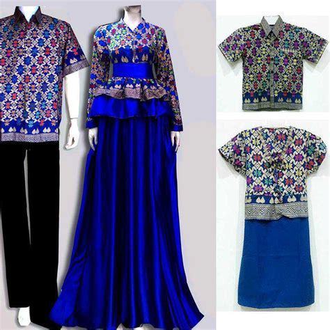 koleksi gambar baju batik gamis  terbaru gambar