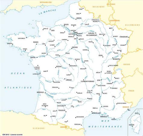 Carte De Avec Villes Fleuves Et Montagnes by Infos Sur Carte De La Avec Ses Villes Principales