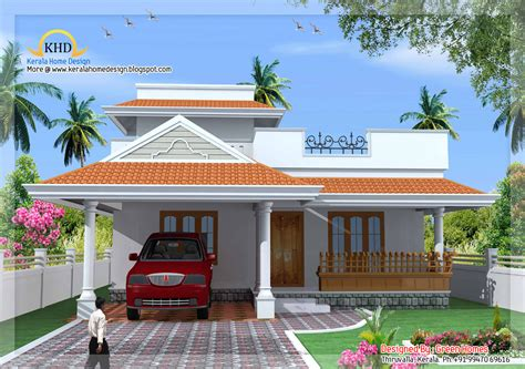 low budget homes photo gallery kerala style single floor house plan 1500 sq ft