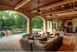 Outdoor Living Space Design Covered Patios With Living Space And Swimming Pool Interior Design Small Pool Houses On Pinterest Pool House Plans Pool House Pool House Design Ideas Remodels Photos