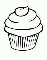 Printable Coloring Cupcake Popular sketch template