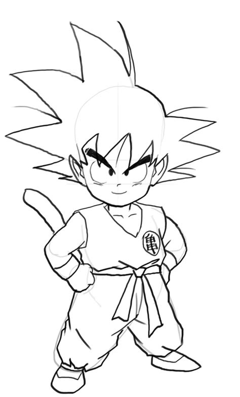 dragon ball  drawing goku  getdrawingscom