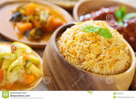 delicious cuisine indian biryani rice royalty free stock photo image 32150115