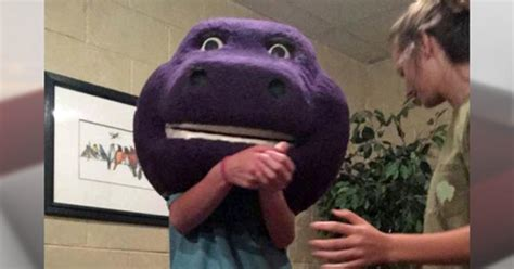 """Barney"" head gets stuck on Alabama teen at slumber party"
