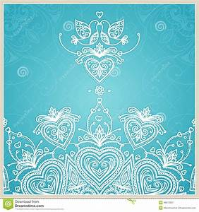 blue wedding invitation design template with doves hearts With wedding invitation templates doves
