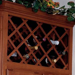 Omega National Cabinet Mount Wine Bottle Lattices